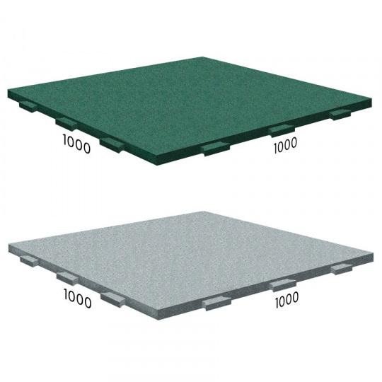 "Резиновая плитка Rubblex Active 1000x1000x30 с замком ""ласточкин хвост"""
