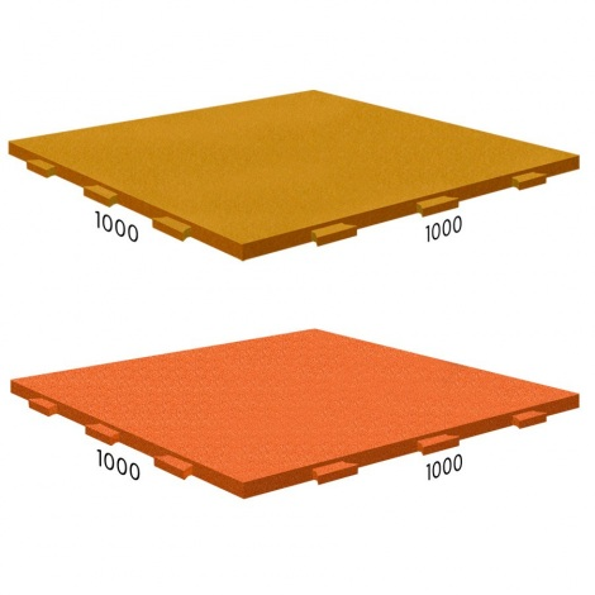 "Резиновая плитка Rubblex Active 1000x1000x25 с замком ""ласточкин хвост"""