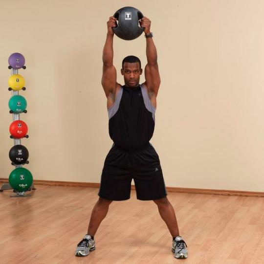 Тренировочный мяч с хватами 2,7 кг (6lb)